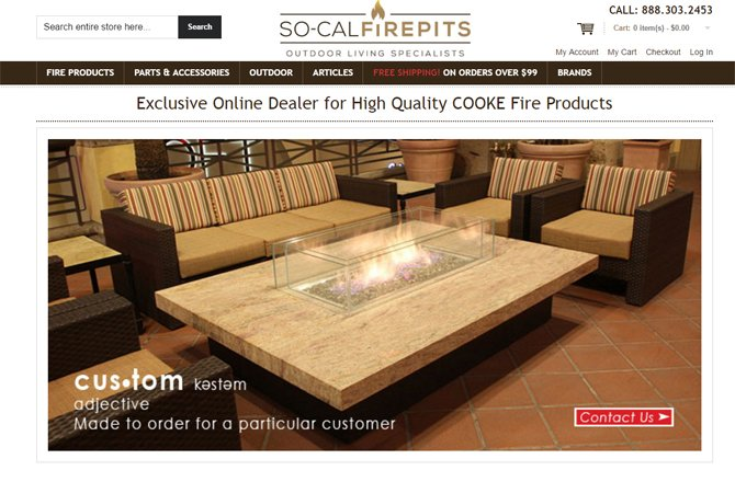 E commerce Outdoor Firepits